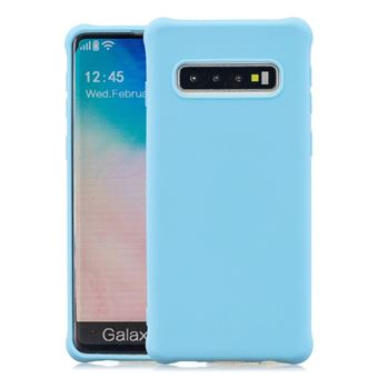 Capa e TPU Magunivers Pele Fosca Anti-Choque Azul Claro para Samsung Galaxy S10
