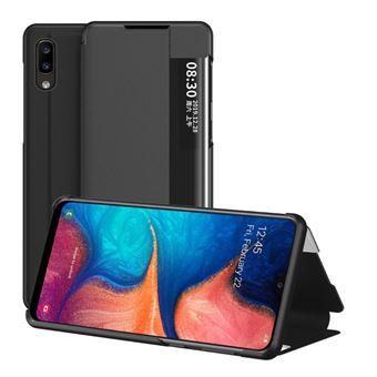 Capa Magunivers Pu Giro com Suporte e Janela de Visualização Preto para Samsung Galaxy A20E