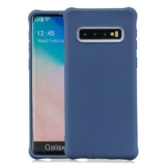 Capa e TPU Magunivers Pele Fosca Anti-Choque Azul Escuro para Samsung Galaxy S10
