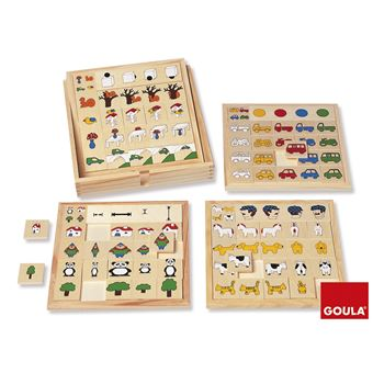 Jogo/Puzzle de Lógica Jumbo Goula Adjectives And Positions Game Multi Cor