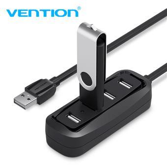 HUB USB Vention | 4 Portas UBS 2.0 | 0,5 m - Preto