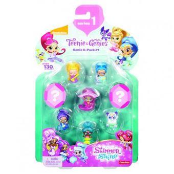 Pack 8 Bonecas Mattel Pack 8 Bonecas Shimmer And Shine Teenie Genies