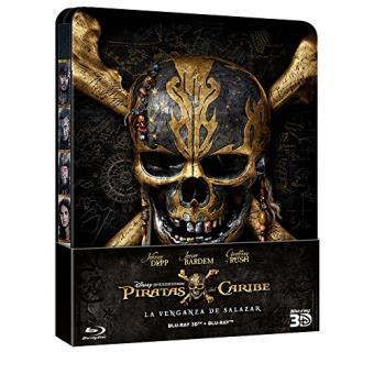 Piratas Del Caribe: La Venganza De Salazar - Edición Metálica / Pirates of the Caribbean: Dead Men Tell No Tales (Blu-ray 3D + Blu-ray)