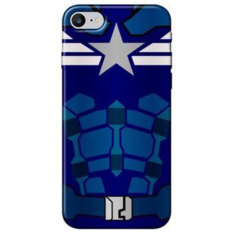 Capa Personalizada MakeUCase para iPhone 7 Capitão América SH16 Transparente