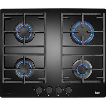 Placa de Cozinha a Gás Vitrocerâmica Encastrável Teka CGW LUX 60 4G AI AL Preto