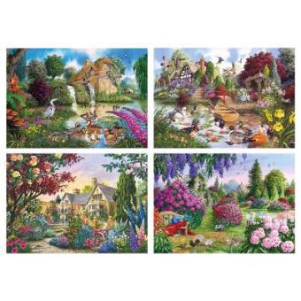 Flora & Fauna Jigsaw Puzzles 4 x 500 Pieces Gibsons Games