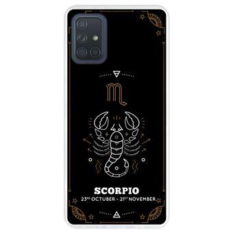Capa Hapdey para Samsung Galaxy A71 | Silicone Flexível em TPU | Design Zodíaco Escorpião - Transparente