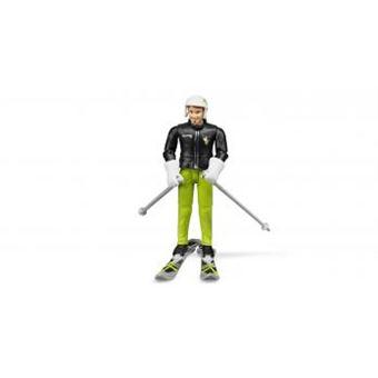 Figura de Brincar Esquiador Bruder com Acessórios