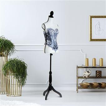 Manequim Feminino de Costura HOMCOM Altura Ajustável a 130-168cm