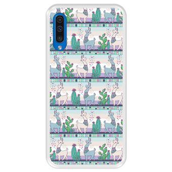 Capa Tpu Hapdey para Samsung Galaxy A50 2019 | Design Padrão de Lhama 2 - Transparente