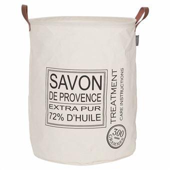 Cesto para Roupa Suja Sealskin Savon de Provence Cor Creme 60L 361752065