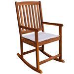 Cadeira de Baloiço vidaXL para Jardim de Madeira de Acácia 54x77x107cm