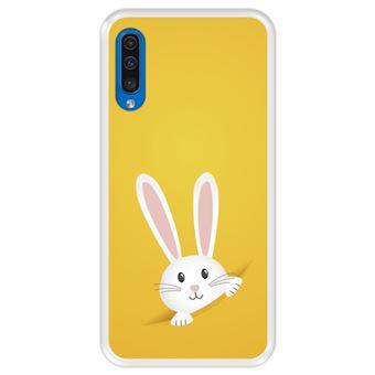 Capa Tpu Hapdey para Samsung Galaxy A50 2019 | Design Coelhinho Da Páscoa - Transparente