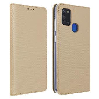 Capa para Galaxy A21s com Função Carteira - Dourado