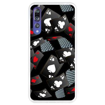 Capa Hapdey para Huawei P20 Pro - P20 Plus Design Cartas de Casino em Silicone Flexível e TPU