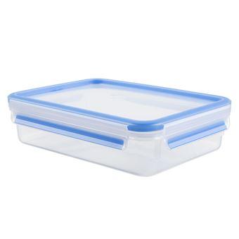 Caixa de armazenamento de comida Tefal K3021412 Retangular Caixa 1.2l Azul, Transparente 1peça(s)