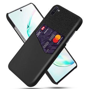 Capa Magunivers TPU + PU Pano com Suporte para Cartão Preto para Samsung Galaxy Note 10