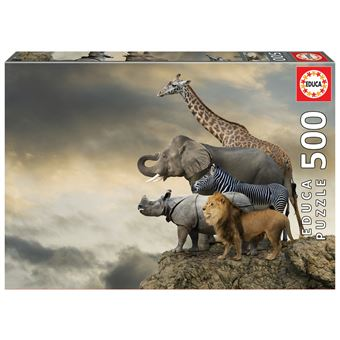 Puzzle 500 Pcs Animais A Beira do Abismo