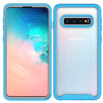 Capa e TPU Magunivers Céu Estrelado Anti-Choque Azul Claro para Samsung Galaxy S10