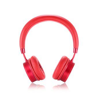 Auscultadores Bluetooth Magunivers REMAX 520 Aux-In Vermelho