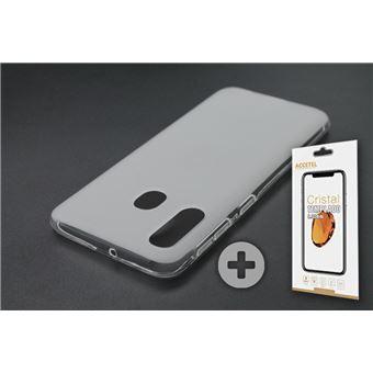 Conjunto com Película de Vidro Temperado e Capa Skyhe para Samsung Galaxy A40 Gel Transparente