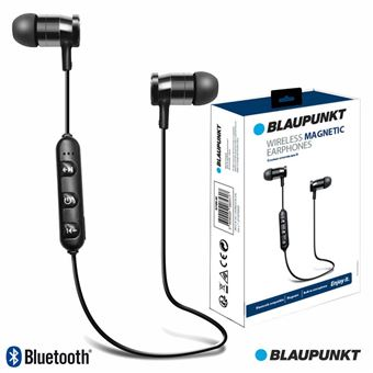 Auscultadores Bluetooth Blaupunkt sem Fios Stereo Bat Pretos