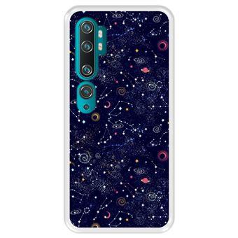 Capa Tpu Hapdey para Xiaomi Mi Note 10 - Note 10 Pro - Cc9 Pro | Design Padrão de Constelação | Galáxia - Transparente