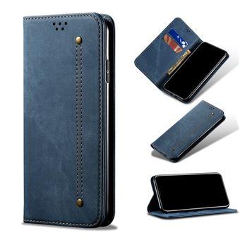 Capa Magunivers | TPU jeans pano estilo retro flip Azul para Samsung Galaxy A50/A50s/A30s