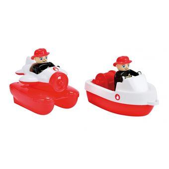 BIG 800055133 Barco para o banho Vermelho, Branco brinquedo de banho