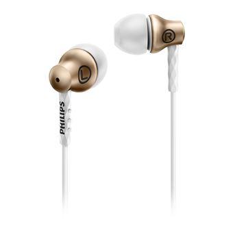 Auriculares Philips SHE8100GD/00 Dourado, Branco