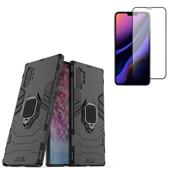Kit Película de Vidro Phonecare 5D Full Cover Curved + Capa 3 em 1 Military Defender para Samsung Galaxy Note 10 Plus Preto