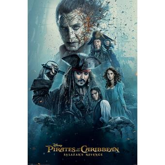 Poster Close Up Pirates Of The Caribbean 5 Pos Burning 91,5 x 61 Cm