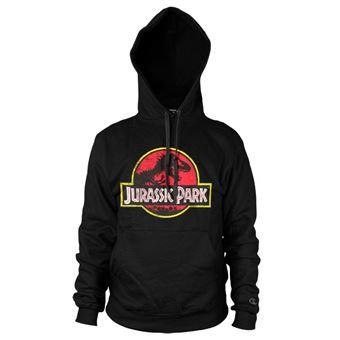 Hoodie Jurassic Park Distressed Logo | Preto | L