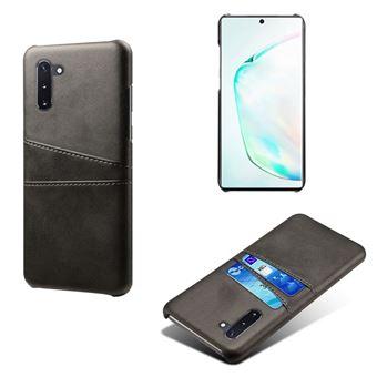 Capa Magunivers TPU + PU com Suporte de Cartão Duplo Preto para Samsung Galaxy Note 10