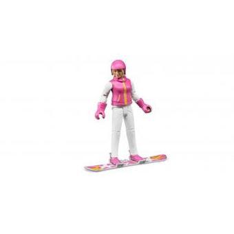 Figura de Brincar Snowboarder Bruder com Acessórios