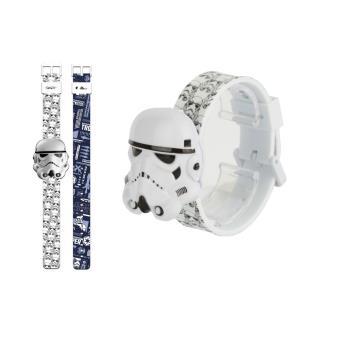 Relógio Star Wars Digital 3D Stormtrooper Bracelete Trocável
