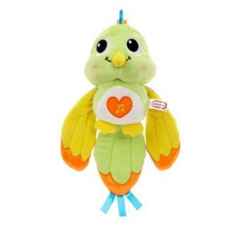 Peluche Little Tikes Lullaby Lovebird - Green Verde e Laranja e Amarelo