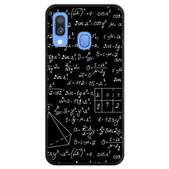 Capa Hapdey para Samsung Galaxy A40 2019 Design Quadro com Cálculos em Silicone Flexível e TPU Preto