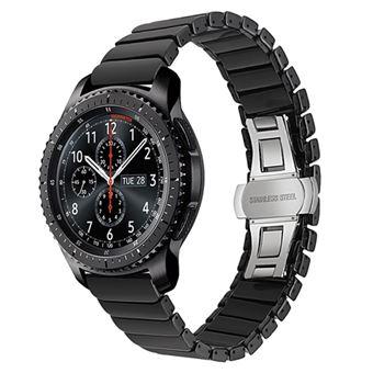 e81e6034aec Pulseira de metal Magunivers aço inoxidável cerâmica preto para Samsung  Gear S3 Frontier S3 Classic - Bracelete Relógio - Compra na Fnac.pt
