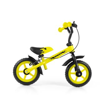 Bicicleta sem Pedais Milly Mally Dragon Z Hamulcem | Preto, Amarelo