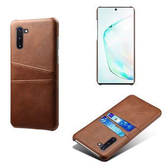 Capa Magunivers TPU + PU com Suporte de Cartão Duplo Castanho para Samsung Galaxy Note 10