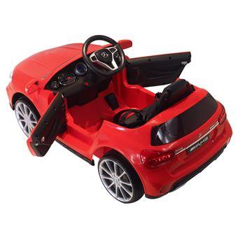 Carro Eléctrico Infantil HomCom Mercedes Benz GLA | 3-8 Anos | Controlo Remoto MP3 USB Luzes e Sons | Carga 30 kg | 100x58x46 cm - Vermelho