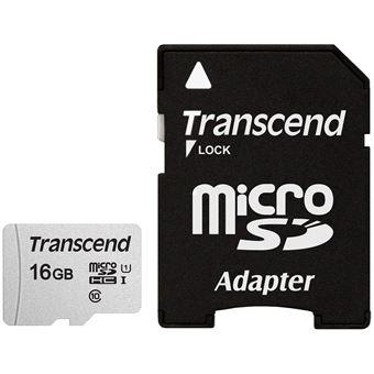 cartão de memória Transcend microSDHC 300S 16GB  Class 10 NAND Cinzento
