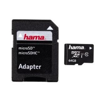 cartão de memória Hama 64GB microSDXC  Class 10  Preto