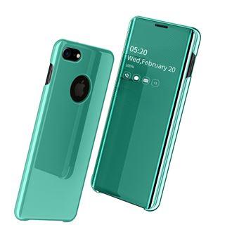 Capa Magunivers PU Superfície do Espelho Pele Vista Janela Verde para iPhone 8/iPhone 7