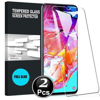 Película Ecrã de Vidro Temperado Advansia para Samsung Galaxy A70 Lote de [X2] [Full Glue]