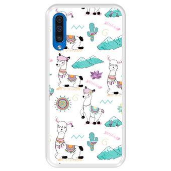 Capa Tpu Hapdey para Samsung Galaxy A50 2019   Design Padrão de Lhama - Transparente