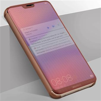 Capa Avizar para Huawei P20 Lite Translúcida Acabamento Sulcado - Rosa Dourado