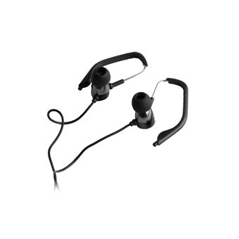 Auriculares Stereo Forever com Fios Preto Desportivo
