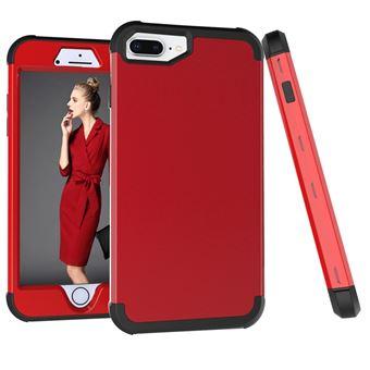 Capa TPU híbrido vermelho preto para Apple iPhone 8 Plus/7 Plus/6s Plus/6 Plus